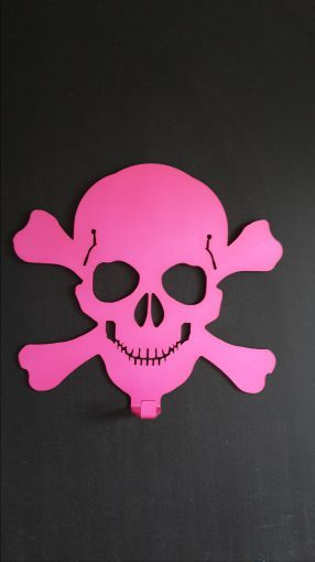 Pink Skull coat Rack