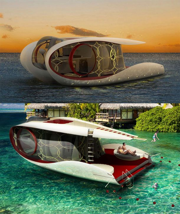 25 Ridiculously Cool Concept YachtsWhile the pictures almost say it all, Hyun-Seok Kim really managed to break the mold with his latest creation. Named Tofi, this super sleek house boat looking yacht just goes to show – size isn't everything.