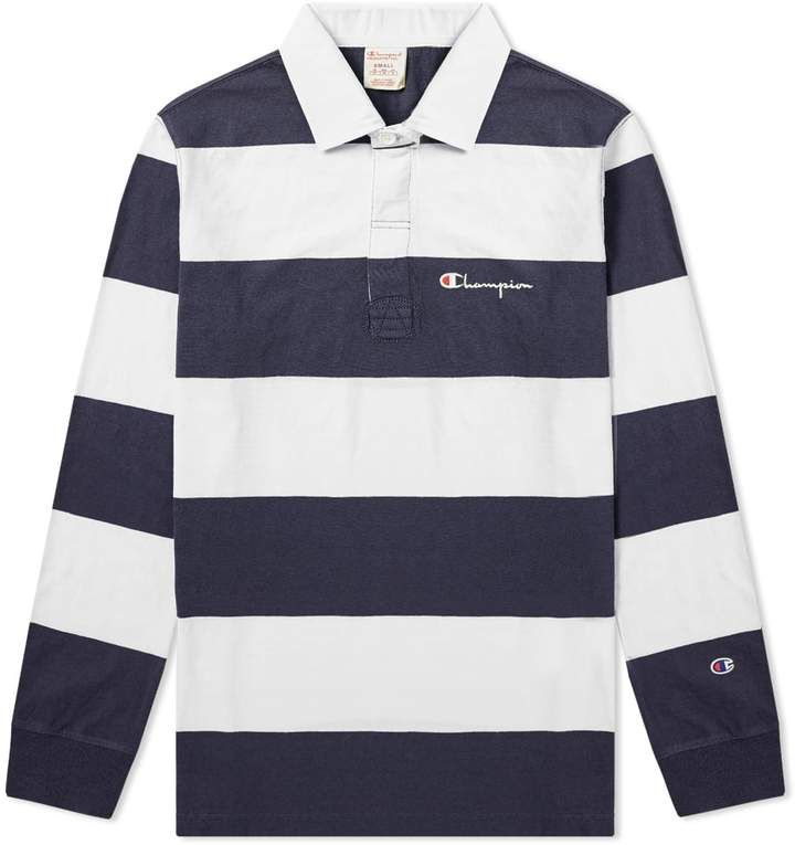 Champion Reverse Weave Stripe Rugby Shirt Rugby Shirt Champion