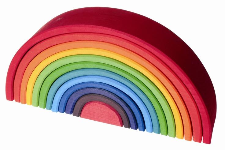 Wooden toy rainbowBaby'S Maybe, Birthday Presents, Rainbows Toys, Wooden Toys, Clay Rainbows, 1St Birthdays, Baby Posiepud, Center Piece, Toys Rainbows