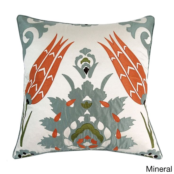 Moroccan Tile 20x20 Decorative Throw Pillow (20x20 Moraccan Tile - Mineral), Multi, Size 20 x 20 (Polyester, Applique)