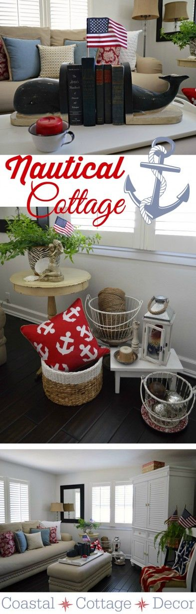 Summer Cottage Nautical Home Decorating- whale book ends : )