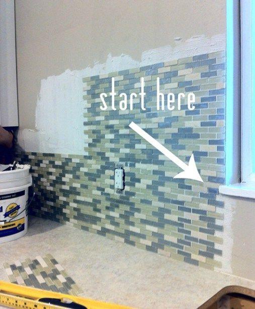 Tiling Around A Window Kitchen Wall Tiles Diy Kitchen Backsplash