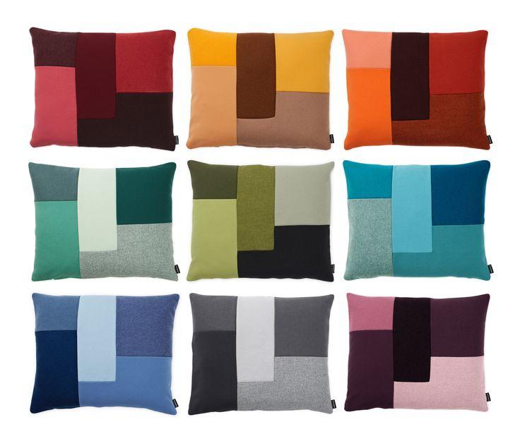 Brick er en hyggelig og grafisk pude fra Normann Copenhagen designet af Britt Bonnesen. Brick er en geometrisk pude med et moderne og elegant udtryk, der leger med former, farver og materialer