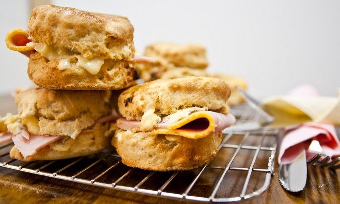 SORTED FOOD - Savory scones with brie and dried apricots!  Making these for my next tea party!