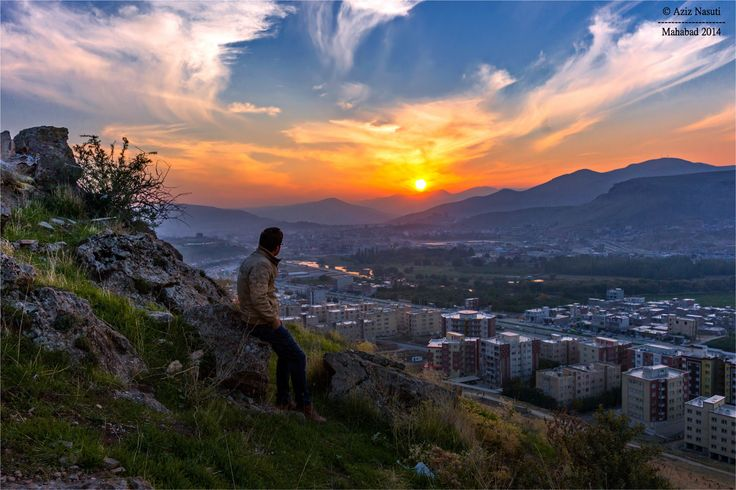 Mahabad Sunset, Kurdistan by Aziz Nasuti on 500px