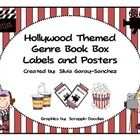 This is a set of book basket genre labels in a Hollywood theme to help keep your library organized.