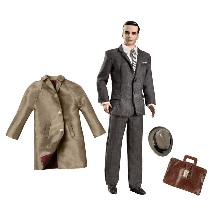 Don Draper Ken Doll for your Barbie. Funny idea really. Great for fans of Mad Men. $95.