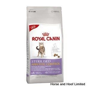 Royal Canin Sterilised Appetite Control 400g Royal Canin Sterilised Appetite Control is a balanced complete feed for neutered adult cats that need their weight managed more effectively or have a tendency to beg for food.