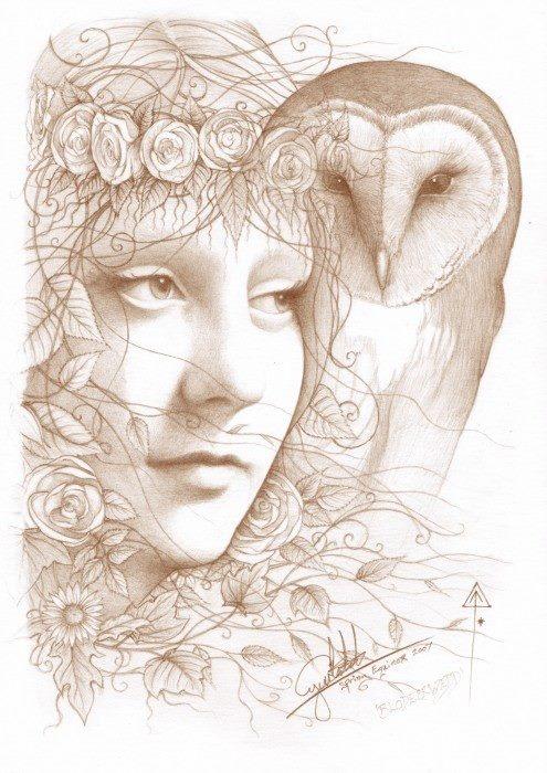BLODEUWEDD (Welsh Goddess)
