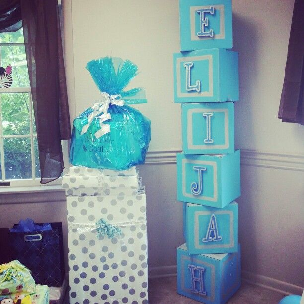 Baby Shower Blocks Prop Baby S Name It S A Boy Noah S