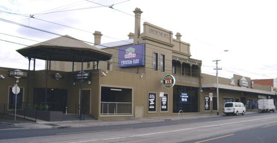 Croxton Park Hotel in Thornbury, Melbourne Australia