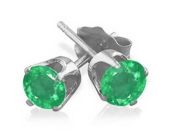emerald earring stud earrings by fireagate on Etsy