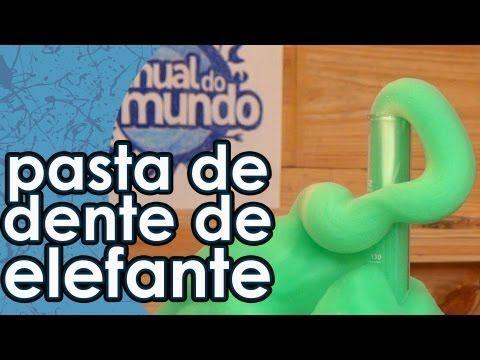 Pasta de dente de elefante (experiência com água oxigenada)