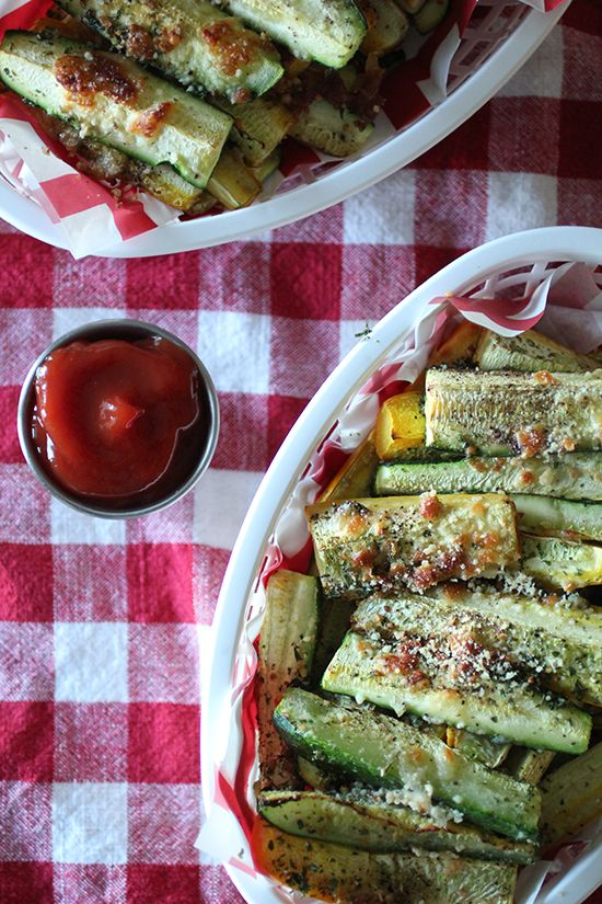 Zucchini Parmesan Wedge Fries