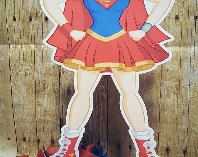 Centros de mesa de chicas superhéroe   Cumpleaños de las niñas de superhéroes   Chicas de superhéroe   Super chica   Centro de mesa