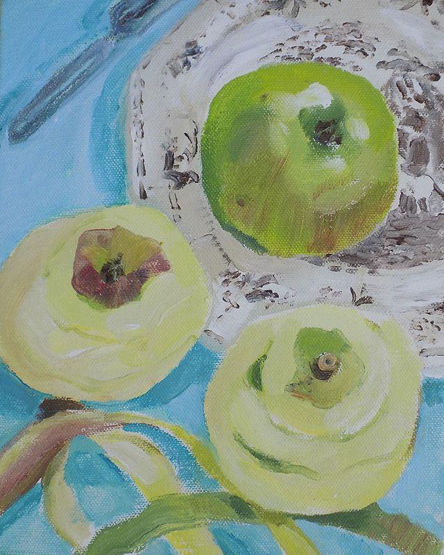 'Green Apple' by Brita Granström (acrylic on canvas)