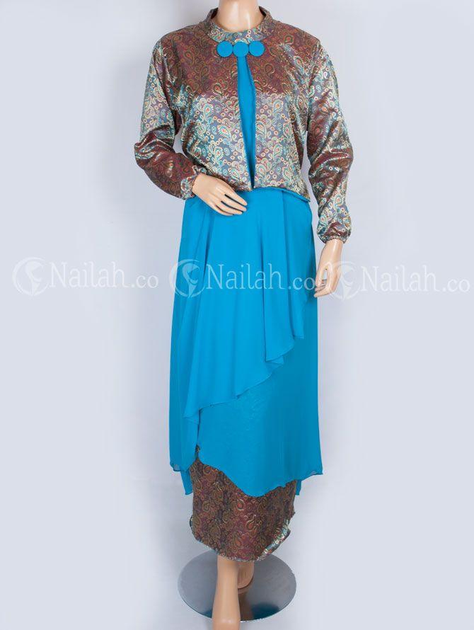 Gamis Pesta yang terbuat dari bahan sifon kombinasi dengan bahan kain tenun Harga Rp. 240.000 order: Hp: 081315351727 pin BB: 748A8C99