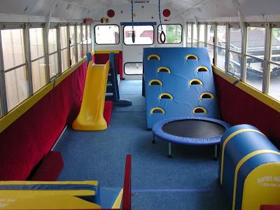 Inside of the Gym Bus in Perth