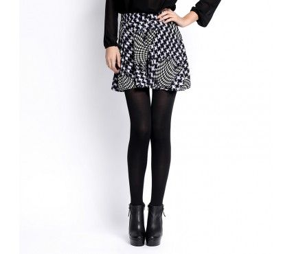 Autumn/Winter 2014 | FULLAHSUGAH DOGTOOTH MINI SKATER SKIRT | €19.90 | 3423101422 | http://fullahsugah.gr