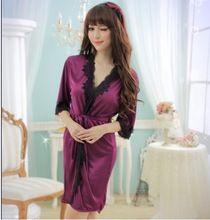 Mujeres lencería Sexy lencería productos eróticos lencería Sexy de encaje albornoces trajes más del tamaño de la ropa interior atractiva transparente, pijamas(China (Mainland))
