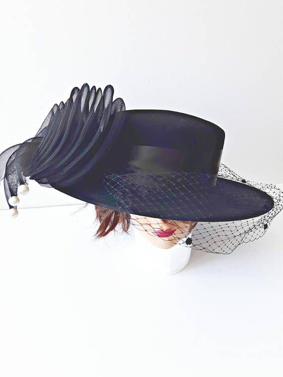 Vintage Women's Hat by Bollman Hat Co. Wedding Hat