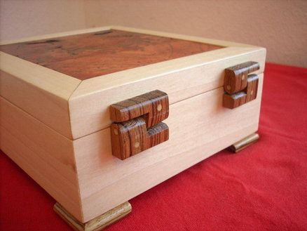 Box with Wooden Hinges