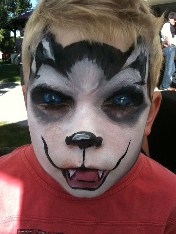 coolest facepainting hey ty you look rosie wow wow wow - Easy Scary Halloween Face Painting Ideas