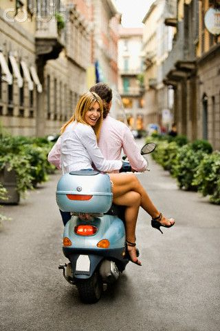 Discovering italy on vespa. Is there anything morw romantic?