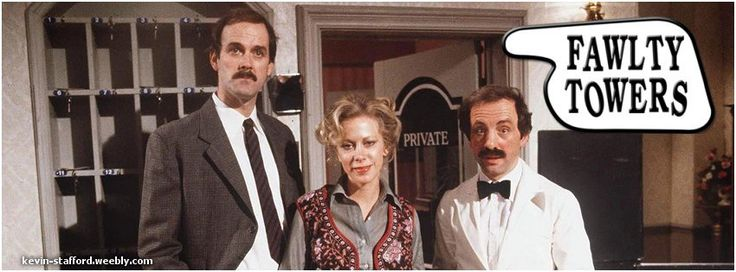 Fawlty Towers, John Cleese, Prunella Scales, Andrew Sachs, BBC, British Comedy, FB Cover, Facebook Covers