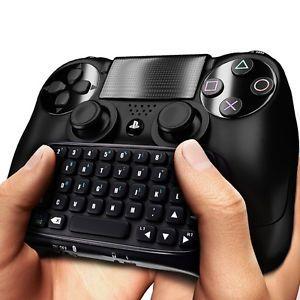 PLAYSTATION PS4 KEYBOARD BLACK Mini Bluetooth sans fil clavier Joystick manettes