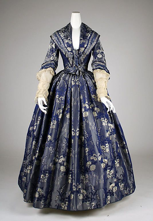 1842 British Silk DressWedding Dressses, 1840 S, 1840S, Historical Clothing, 1800, Day Dresses, 1842 Dresses, Metropolitan Museums, Historical Dresses