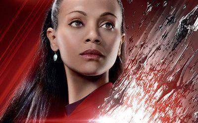 Scarica sfondi fiction, zoe saldana, 2016, il tenente uhura