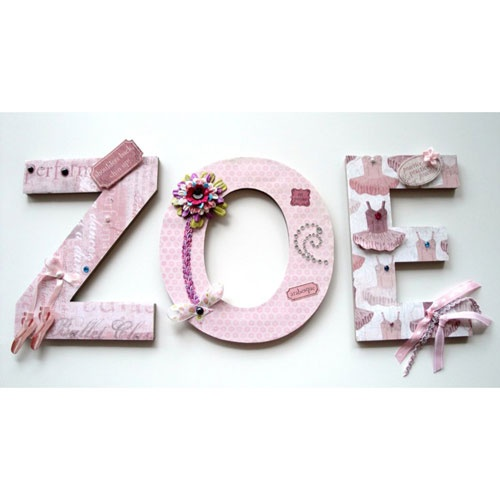 Ballet Themed Wall Letters, I Am IN LOVE With These!