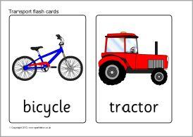 Transport flash cards (SB7798) - SparkleBox ...