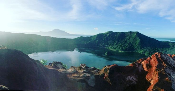 Taal volcano crater located in Talisay, Batangas and the smallest active volcano in the world.-