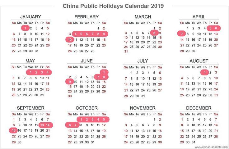 China Holidays, Public Holidays Calendar in 2019/2020/2021 ...