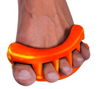 YogaToes Sport - Medium Orange: Train Your Feet For Better Athletic Performance! Improve Agility, Balance & Recovery Time.