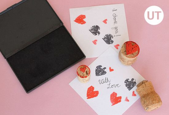 diy heart stamps