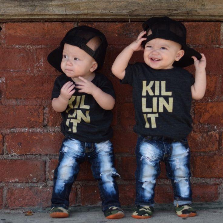 'Killin it' black AA tee by Little Gypsy Finery toddler baby boy trendy fashion summer littlegypsyfinery.bigcartel.com
