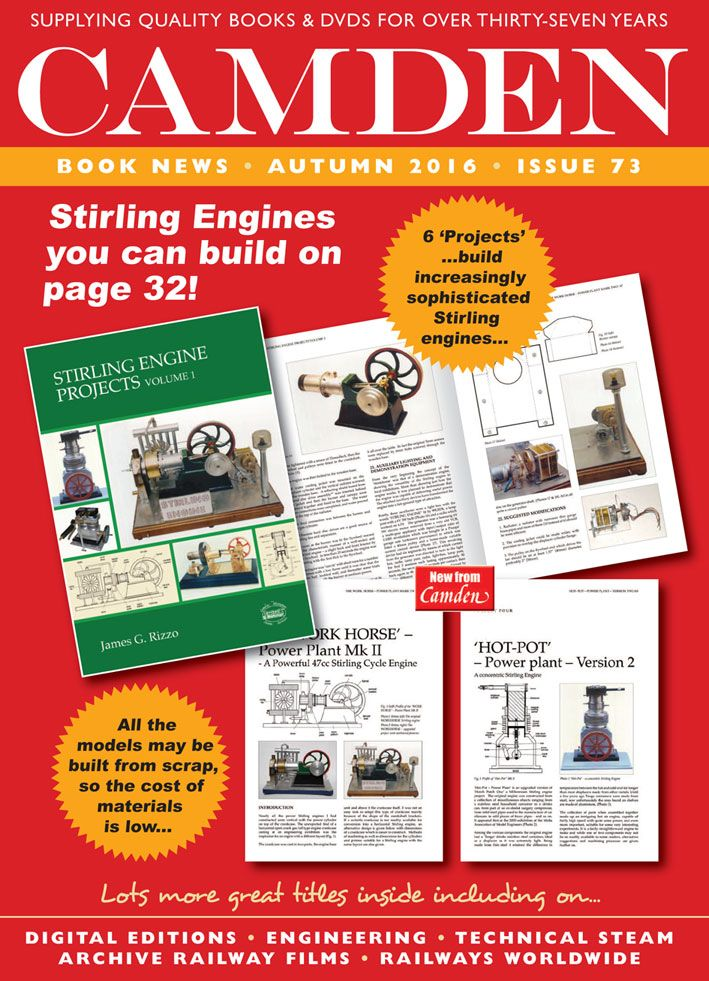 Our October 2016 Booklist - 72 pages of great information for model engineers, steam enthusiasts, and the mechanically minded. Sent FREE worldwide - contact us for your copy!