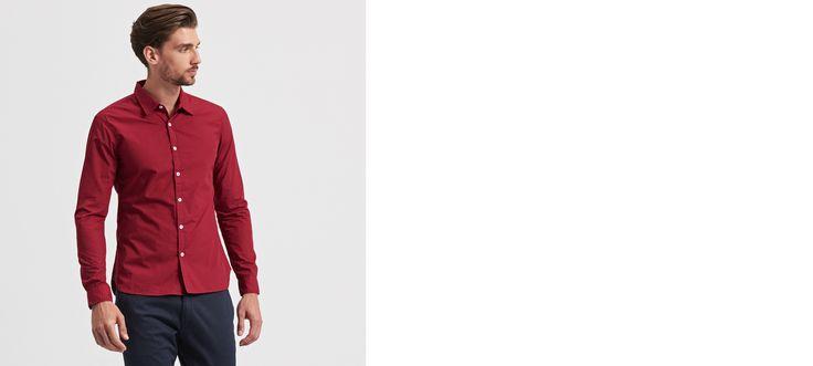 koszula z nadrukiem SLIM FIT, MID SEASON SALE DE, rÓŻowy, RESERVED