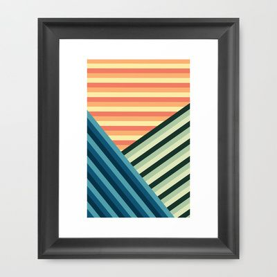 Stripes Are Us Framed Art Print by Diogo Coito - $35.00