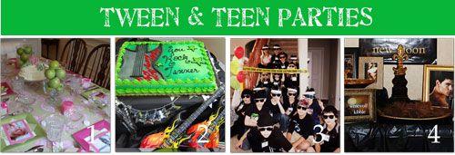 Tween and Teen Birthday Party Ideas