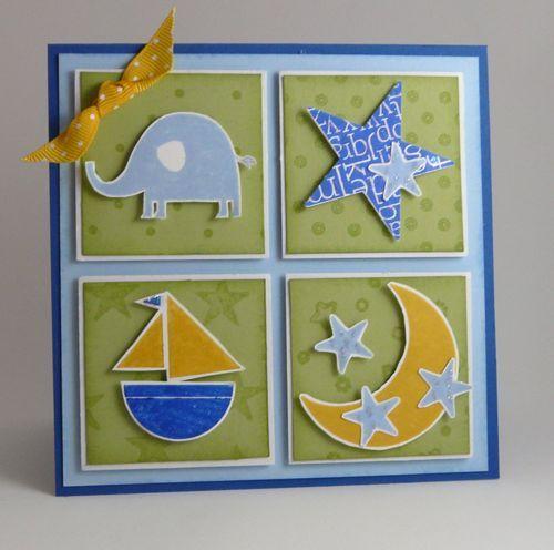 Boy Card using Stampin Up Nursery Necessities