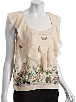 Leifsdottir ivory silk 'Caterpillar and Friends' ruffle blouse. Get this great deal here http://bit.ly/HEoA2L and don't forget to get your free Divalicious mobile app for your smartphone today. Buy and share from 300 of the hottest brands http://bit.ly/xl0JTv