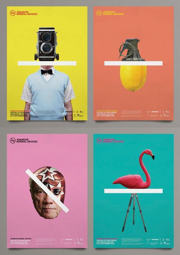More of the branding and campaign for AND Film Festival on WE AND THE COLOR Fol …