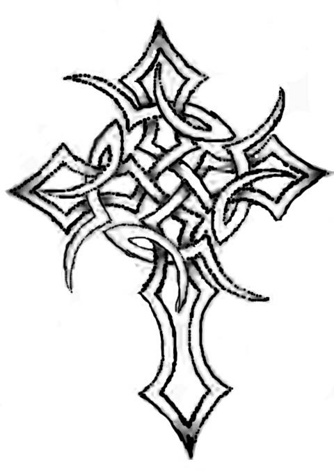 Pictures Of Tribal Cross Tattoos: Tribal Celtic Cross Tattoo By