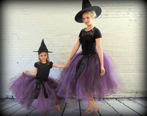 halloween mother daughter matching tutu set teen and girls matching tutu mom and daughter matching witch costumes adult tutu skirt