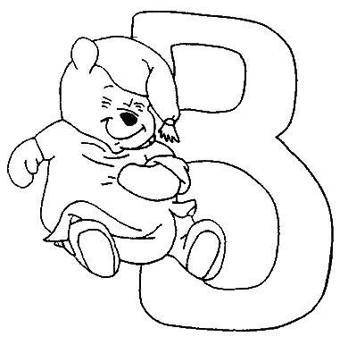 Coloring pages winnie the pooh alphabet 2